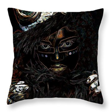Voodoo Woman Throw Pillow