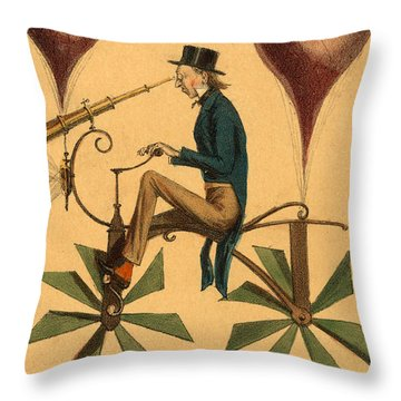 Voyage A La Lune Throw Pillow
