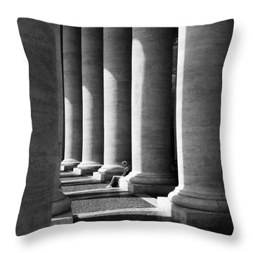 Throw Pillow featuring the digital art Waiting At St Peters by Julian Perry