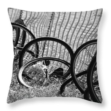 Waiting For A Ride Throw Pillow by Lauri Novak