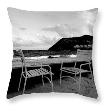 Waiting Throw Pillow by Ian  MacDonald