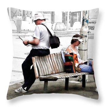 Waiting Throw Pillow by Linda Phelps