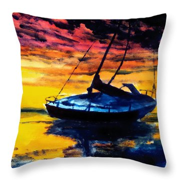 Waiting On The Tide Throw Pillow
