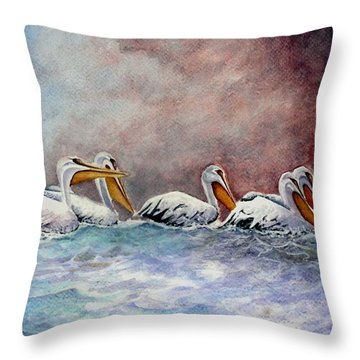 Waiting Out The Storm Throw Pillow