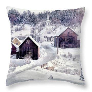 Waits River, Vt Throw Pillow