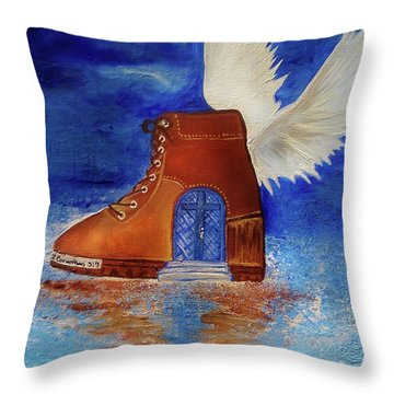 Walk By Faith Throw Pillow