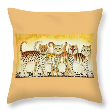 Walk On The Wild Side Throw Pillow