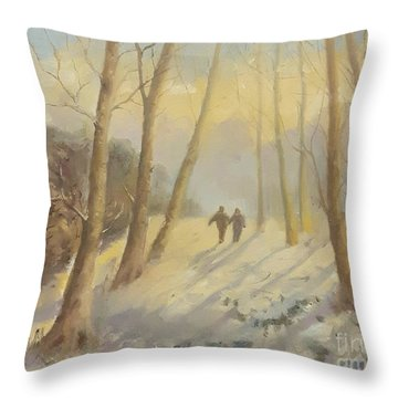 Walking In Sunshine Throw Pillow
