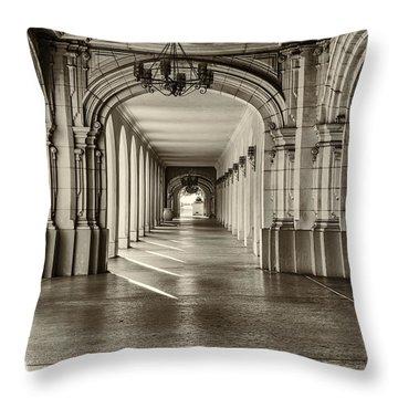 Walkway Throw Pillow by Joseph S Giacalone
