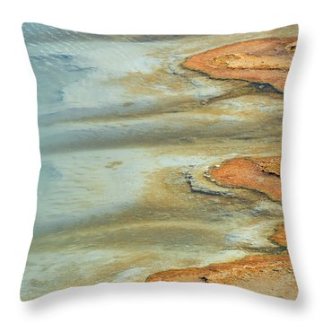 Wall Pool In Yellowstone National Park Throw Pillow