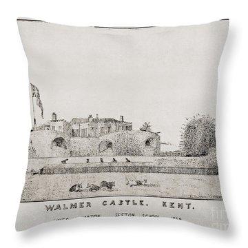 Walmer Castle Kent Throw Pillow