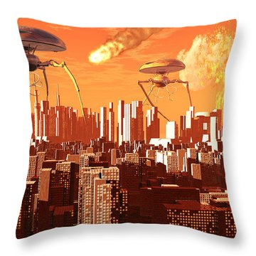 War Of The Worlds Throw Pillow