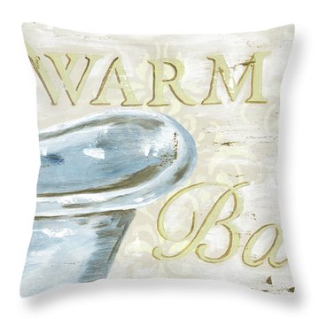 Warm Bath 2 Throw Pillow by Debbie DeWitt