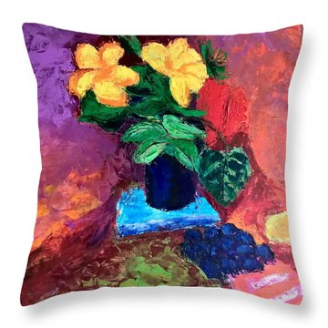 Warm Combination Throw Pillow