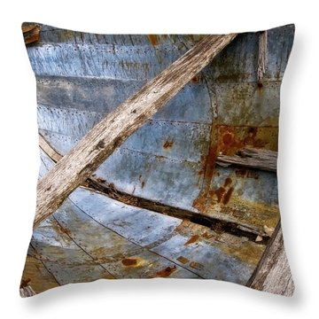 Throw Pillow featuring the photograph Washed Up by Heather Kenward