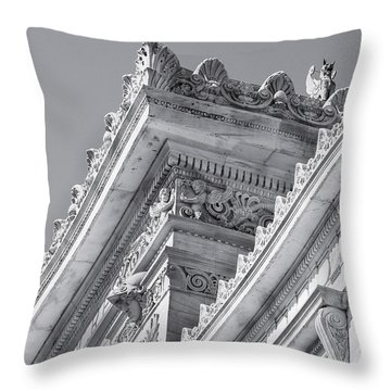 Washington Dc Architecture Throw Pillow by Debbie Karnes