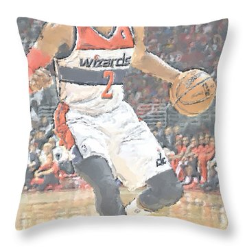 Washington Wizards John Wall Throw Pillow by Joe Hamilton