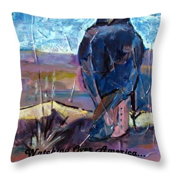 Watchful American Icon Throw Pillow by Betty Pieper
