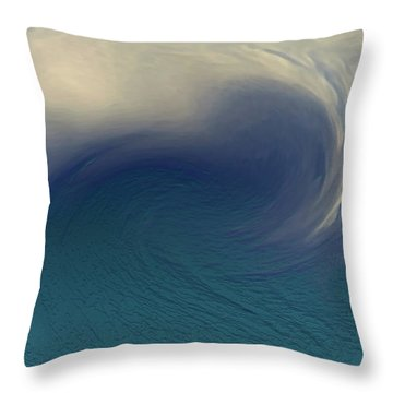 Water And Clouds Throw Pillow
