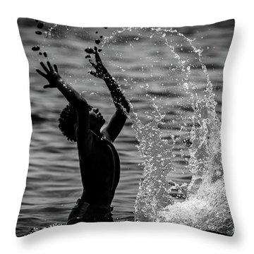 Water And Stones 3 Throw Pillow