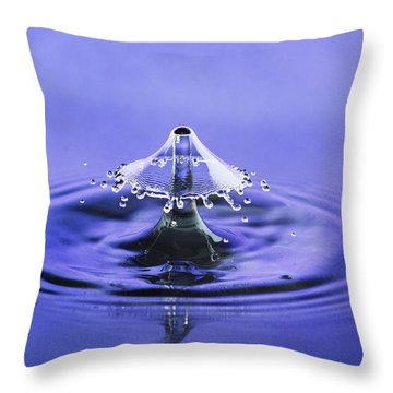 Water Drop Umbrella Throw Pillow