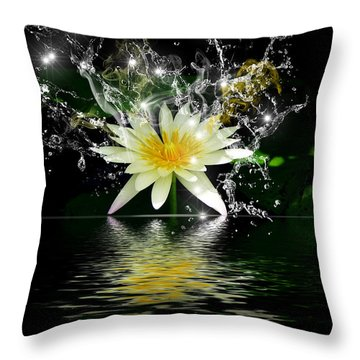 Water Lily Throw Pillow by Gordon Engebretson