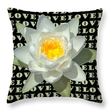 Water Lily Love Throw Pillow by Jeannette Hunt