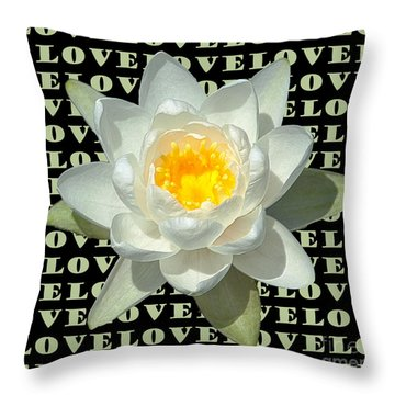 Water Lily Love Throw Pillow