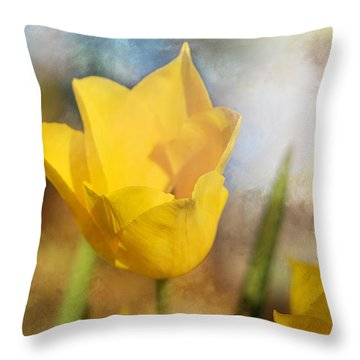 Water Lily Tulip Flower Throw Pillow
