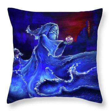Water Wizard Throw Pillow