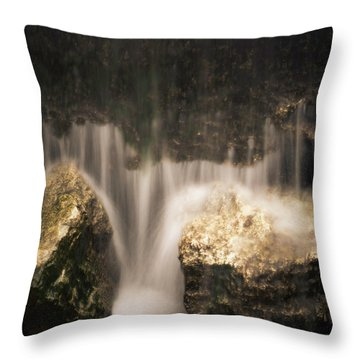 Waterfall Detail Throw Pillow by Scott Meyer