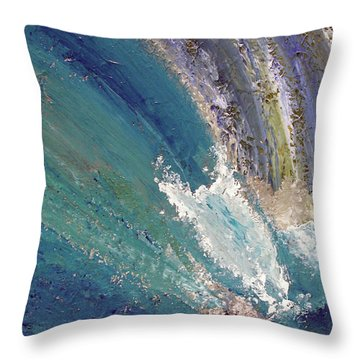 Waterfalls 2 Throw Pillow