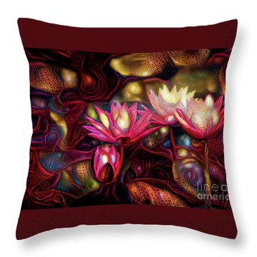 Waterlilies 7 Throw Pillow