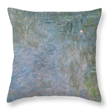 Waterlilies Morning Throw Pillow