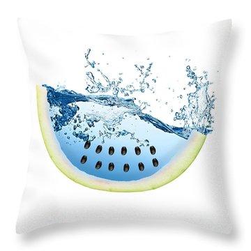 Watermelon Splash Throw Pillow