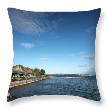 Waterside Restaurant Cafe In Famous Kaivopuisto Park Helsinki Fi Throw Pillow
