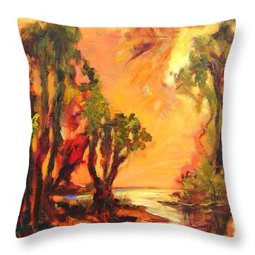 Waterway Throw Pillow