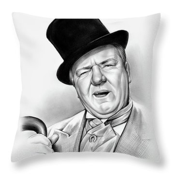 Wc Fields Throw Pillow by Greg Joens