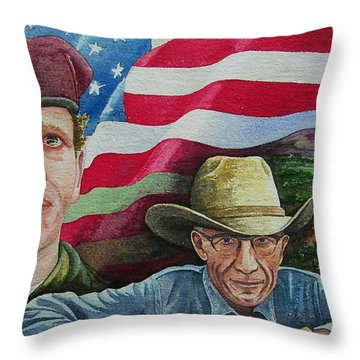 We Hold These Truths Throw Pillow by Gale Cochran-Smith
