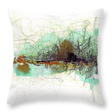 Throw Pillow featuring the painting Wearing Of The Green by Rick Baldwin