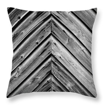 Weathered Wood Throw Pillow by Larry Carr