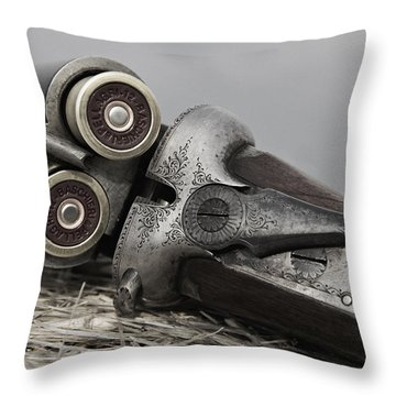 Webley And Scott 12 Gauge - D002721a Throw Pillow