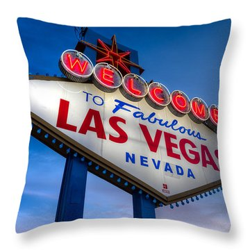 Welcome To Las Vegas Throw Pillow