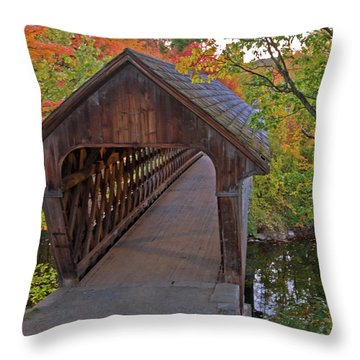 Welcoming Autumn Throw Pillow