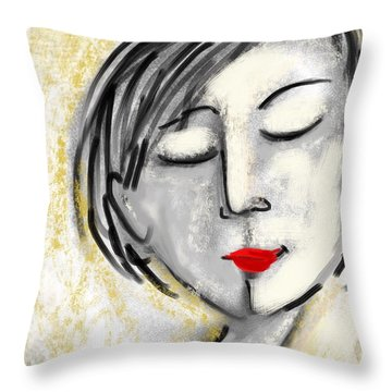 Wendy Throw Pillow by Elaine Lanoue