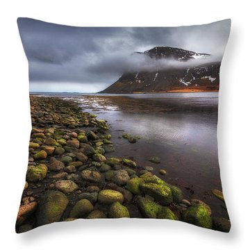 West Fjords Throw Pillow