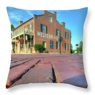 Western House Throw Pillow