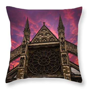 Westminster Abbey Throw Pillows
