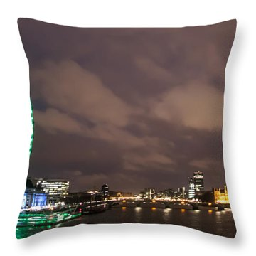 Westminster And The London Eye Throw Pillow by Dawn OConnor