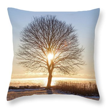 Throw Pillow featuring the photograph Whaleback Sunrise by Robert Clifford
